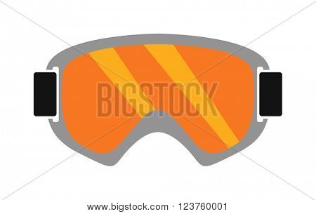 Snowboarding sport glasses design protection vector.