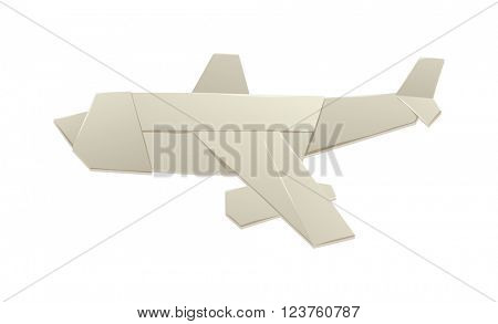 Origami airplane and origami paper plane handmade creative transport vector illustration