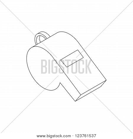 Whistle icon in isometric 3d style isolated on white background