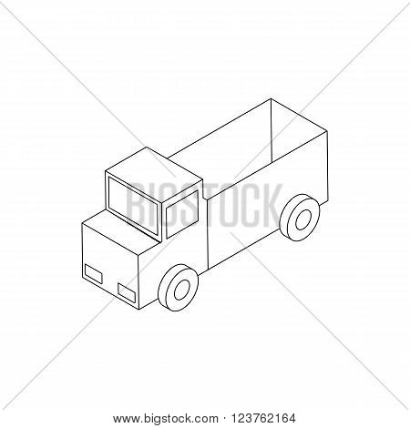 Toy truck icon in isometric 3d style isolated on white background