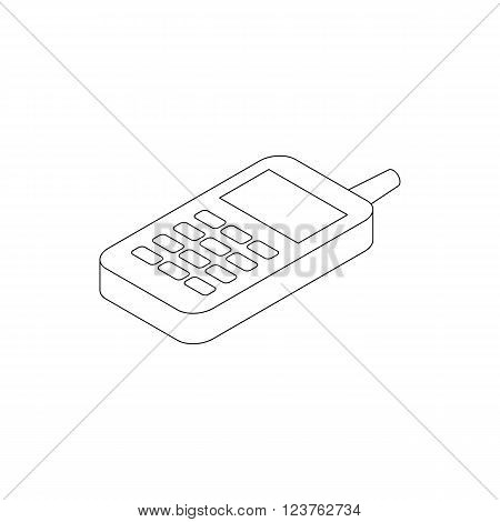 Toy phone icon in isometric 3d style isolated on white background
