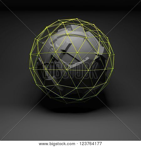 Abstract Spherical Object, Chaotic Fragmentation