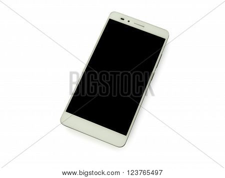 Isolated Smartphone black blank screen with White Background