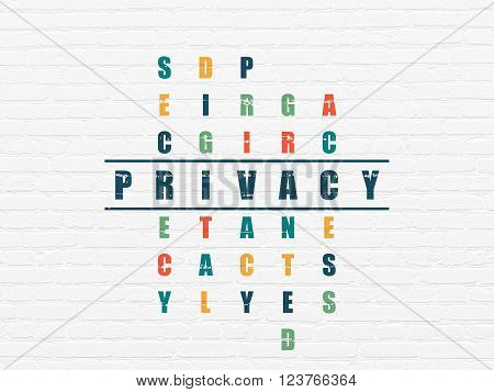 Security concept: Privacy in Crossword Puzzle