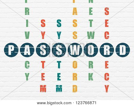 Privacy concept: Password in Crossword Puzzle