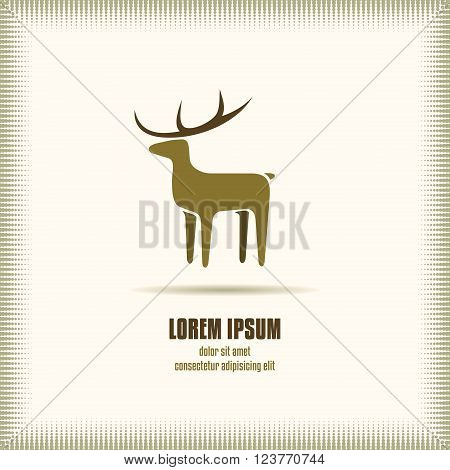 Deer Symbol Vector. Deer Logo Template Object. Deer Icon Image. Deer Icon Graphic. Deer Icon EPS.