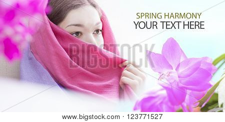 Spring background illustration for the web site banner