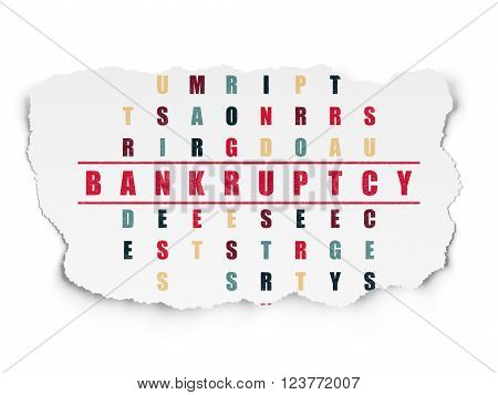 Finance concept: Bankruptcy in Crossword Puzzle