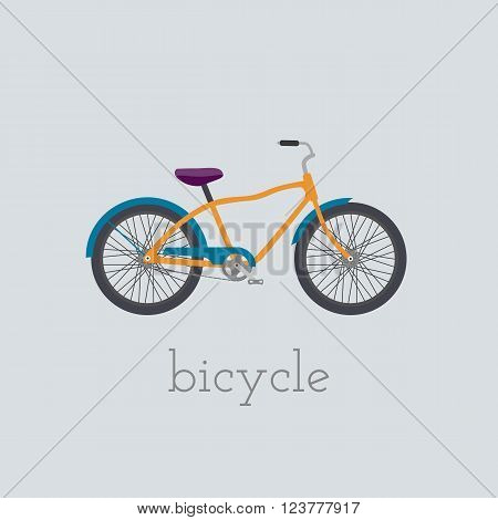 Vector bicycle illustration. bicycle isolated on white background. Bike vector. bicycle bike illustration. Bike isolated vector