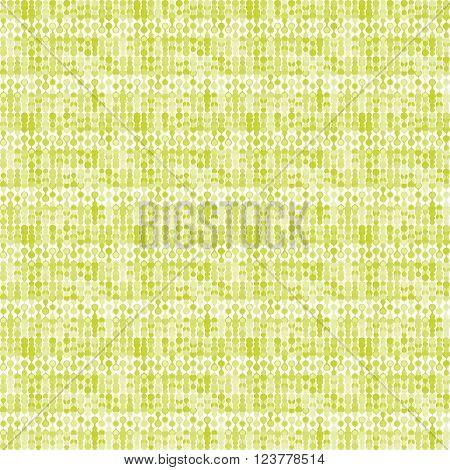 Greenish striped stylized knitting metaball seamless pattern