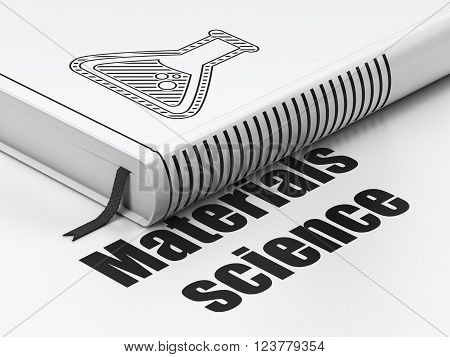 Science concept: book Flask, Materials Science on white background