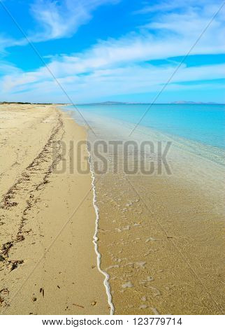 Fiume Santo shoreline and turquoise sea in Sardinia
