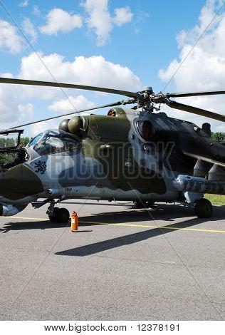 RADOM POLAND - AUG. 31: Mi-35 Mi-24. International Air Demonstrations AIR SHOW 2009. August 31, 200