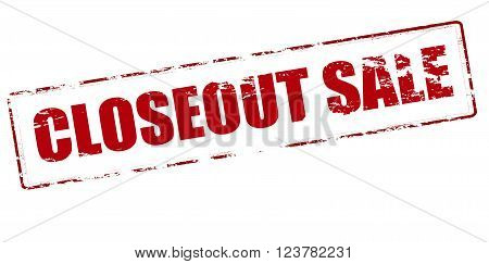 Rubber stamp with text closeout sale inside vector illustration