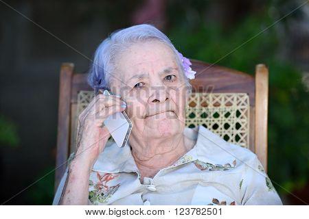 Grandma Making Phone Call