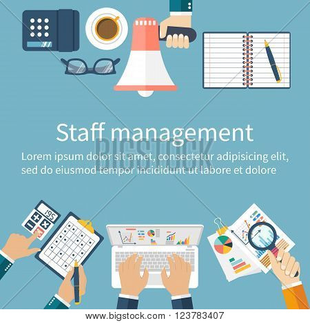 Staff Management. Management Concept