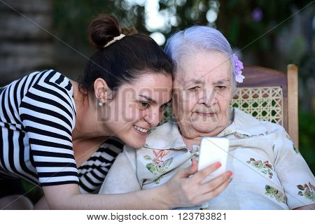 Grandma Taking Photo
