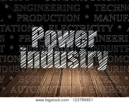 Industry concept: Power Industry in grunge dark room