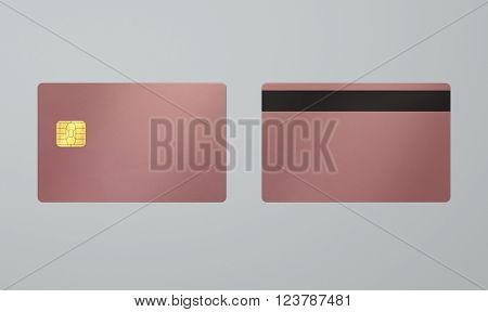 Rose Gold Card With Ic