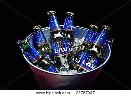Six Bottles Of Lav Beer