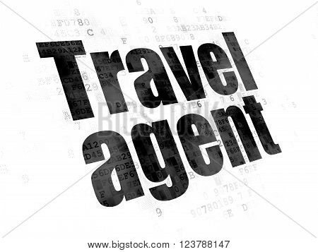 Vacation concept: Travel Agent on Digital background