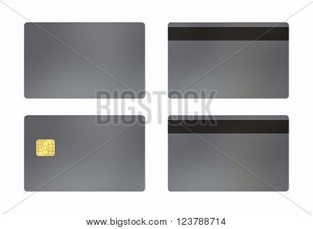 Silver Card With White Background