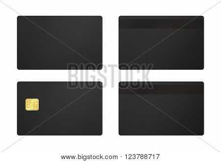 Black Card With White Background