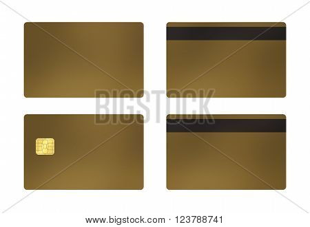 Credit or debit card template with white background, To apply any concept for business transaction gift card VIP and discount card illustration.