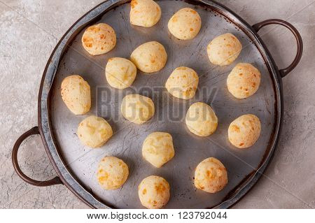 Brazilian Snack Cheese Bread (pao De Queijo) On Oven-tray