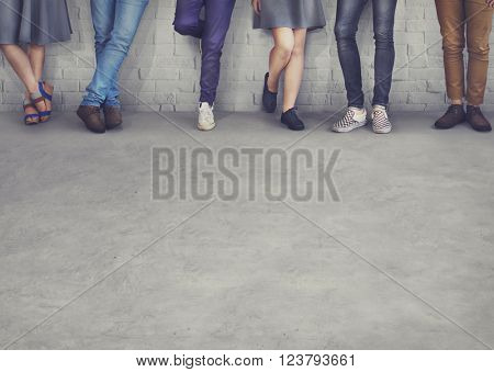 Teens Friends Hipster Fashion Trends Concept