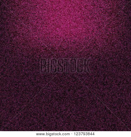 Texture of crimson jeans fabric as background. Vector EPS10