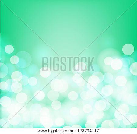 Green and aqua colors blurry square background. Vector illustration
