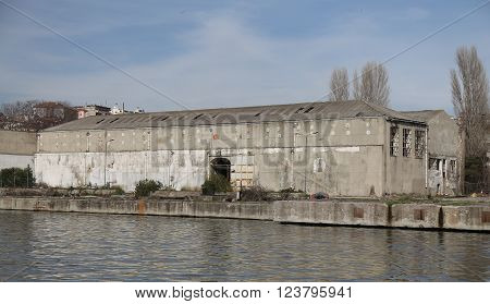 Old and Abandoned Shipyard in Istanbul City