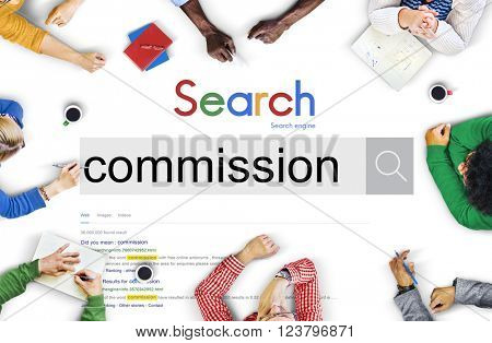 Commission Compensation Finance Gain Earning Concept