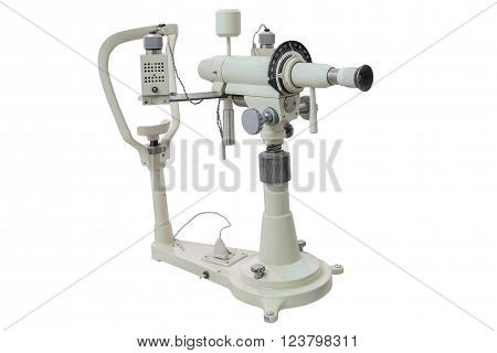 apparatus for measurement of vision isolated on white background