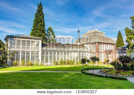 KASSEL, GERMANY - OCTOBER 2: Historical conservatory on October 2, 2014 in Kassel, Germany