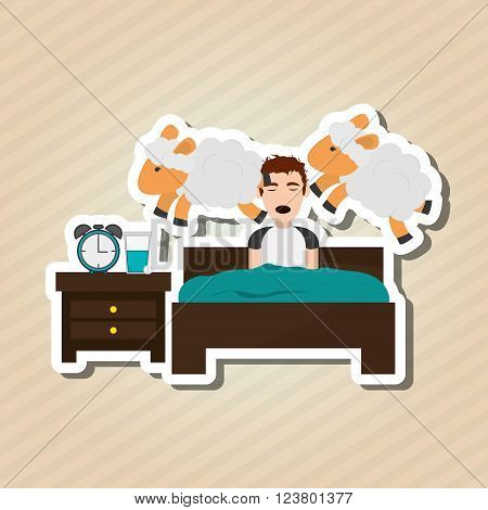 Resting and sleep concept with icon design, vector illustration 10 eps graphic