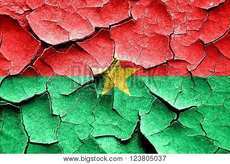Grunge Burkina Faso flag with some cracks and vintage look