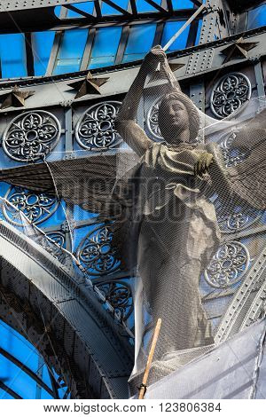 Naples, Italy,-  CIRCA November 2015: Details in Galleria Umberto I in Naples which was built  in liberty style in November 19, 1990