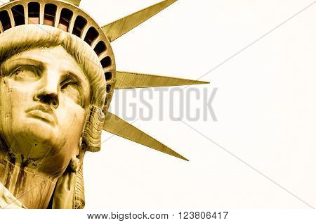 The Statue of Liberty is a colossal copper statue in NYC