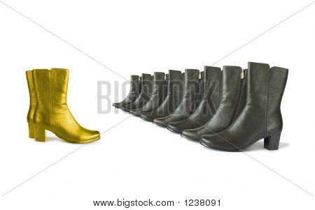 Golden (Chief) And Black (Team) Boots