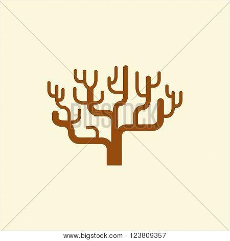 Vector structure tree icon. Hierarchy tree concept, structure symbol.