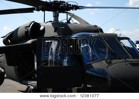 RADOM POLAND - AUGUST 31: Blackhawk s-70. International Air Demonstrations AIR SHOW 2009. August 31