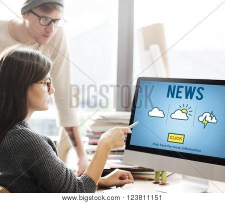News Announcement Broadcast Report Media Concept