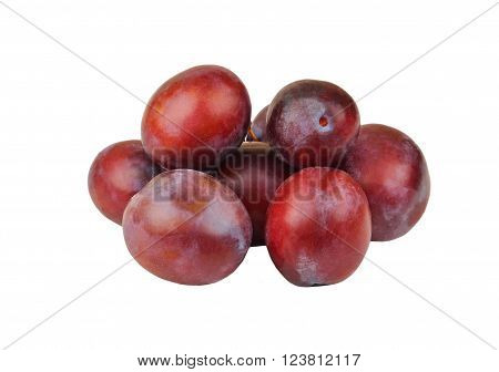 Plum On White