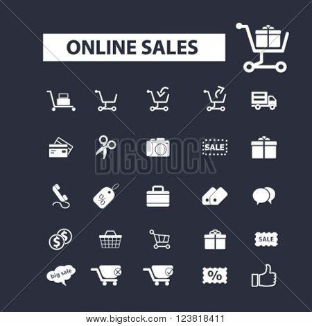 ecommerce, online sales icons