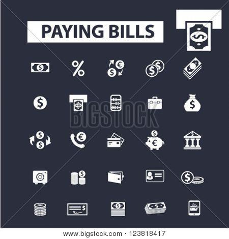 paying bills icons