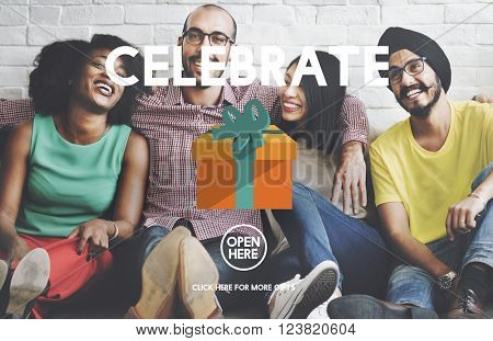 Celebrate Anniversary Enjoyment Event Happiness Concept