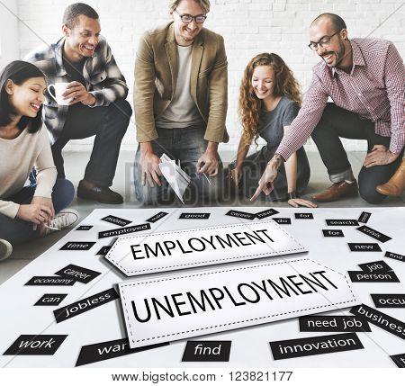 Employment Unemployment Career Job Concept
