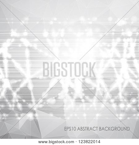 White & grey abstract background. Triangle pattern. EPS10 vector illustration.